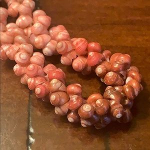 Vintage Jewelry - Vintage Pink Ombré Trochus Sea Shell Necklace